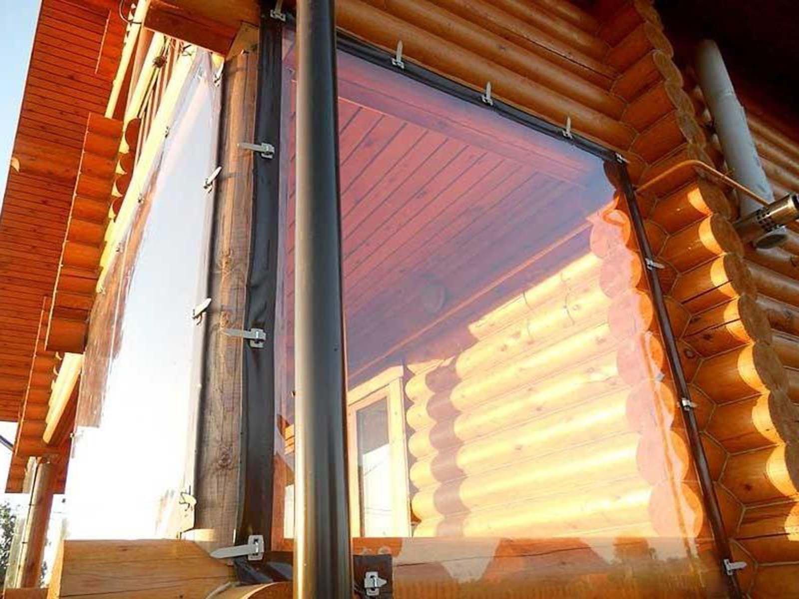 Гибкое окно для террасы и беседки