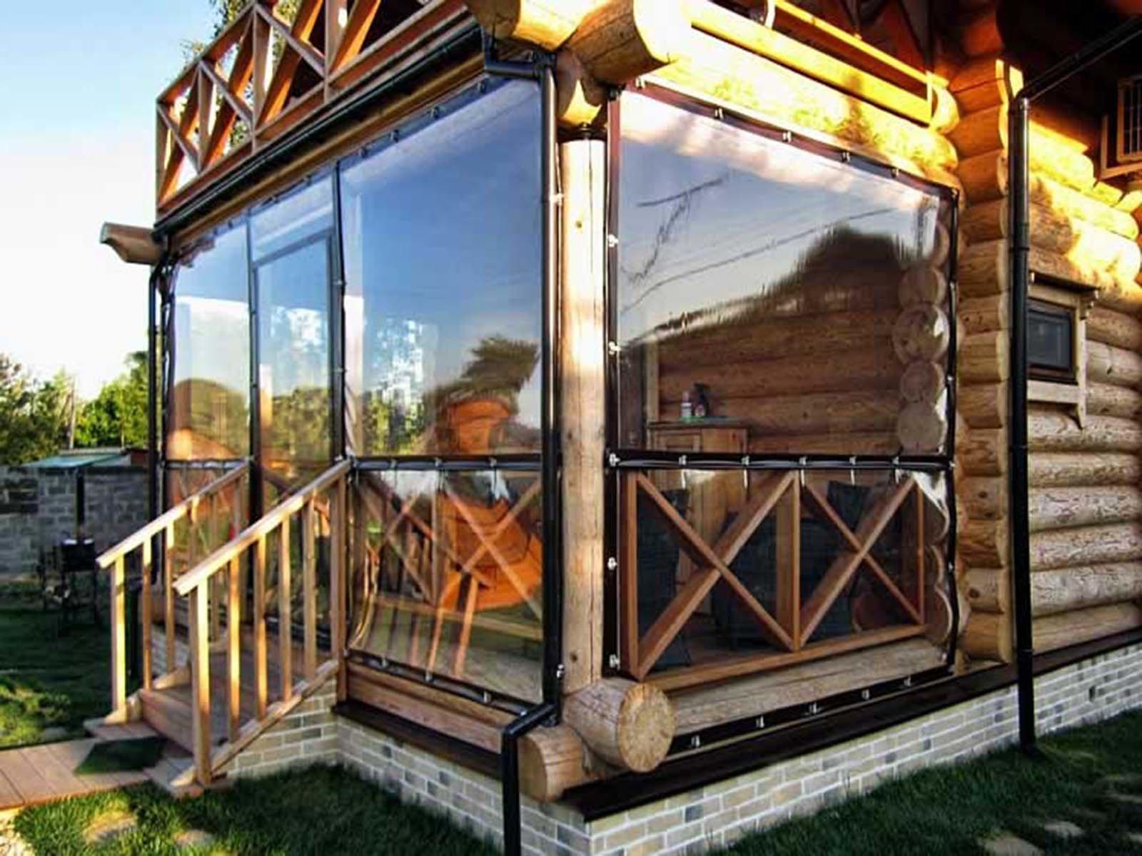 Мягкие окна из поливинилхлорида для беседки или террасы