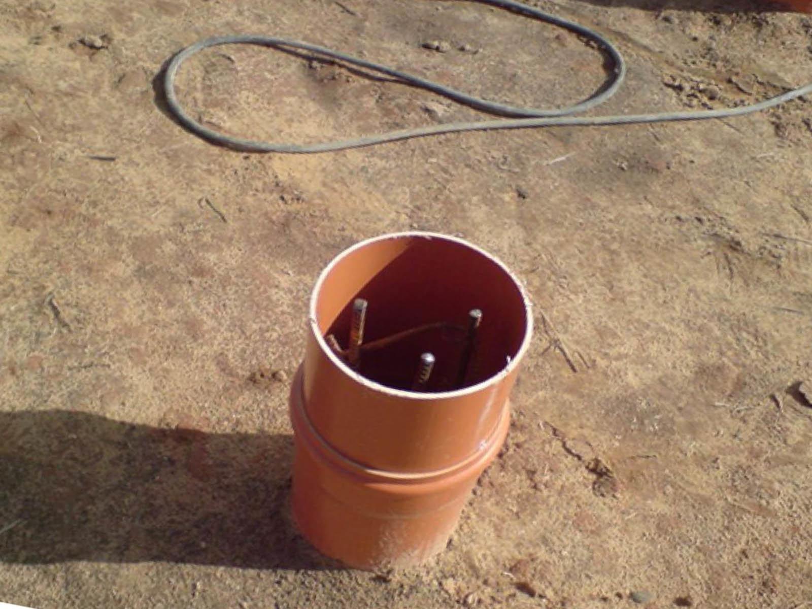 Делаем армопояс внутри трубы трубы под веранду