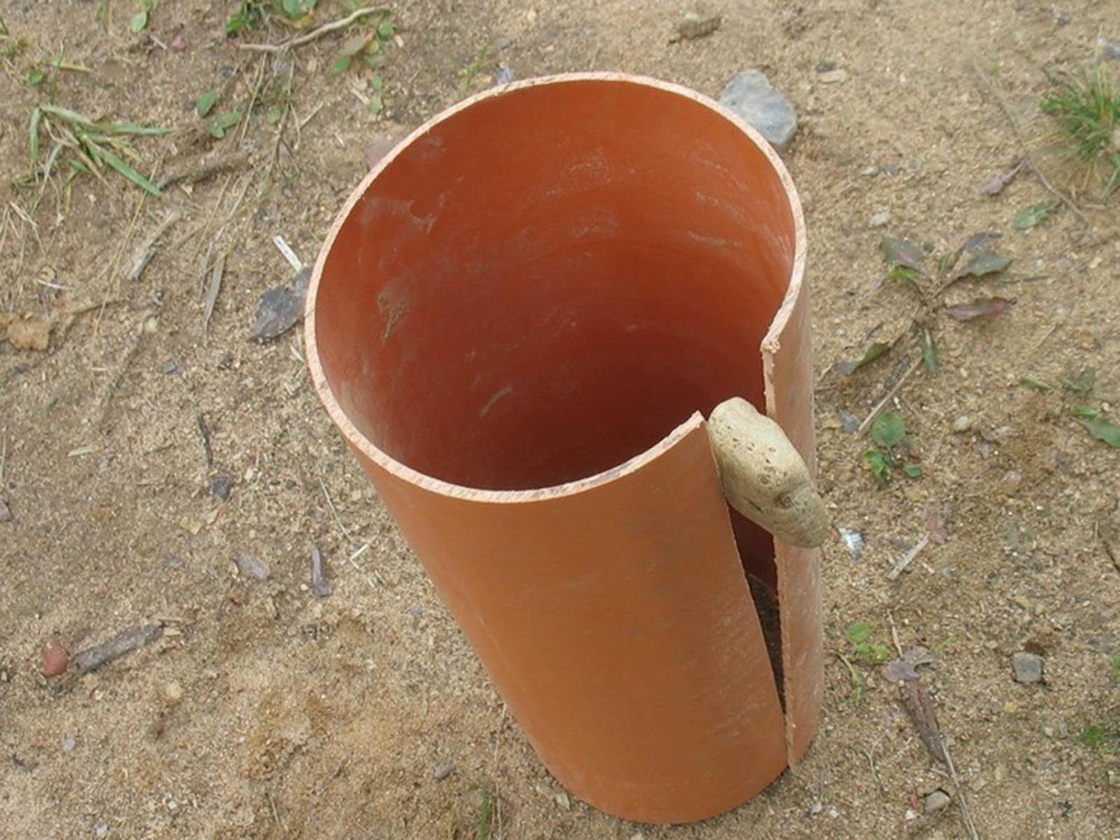 Готовим пвх трубу для дальнейшего использования под фундамент веранды
