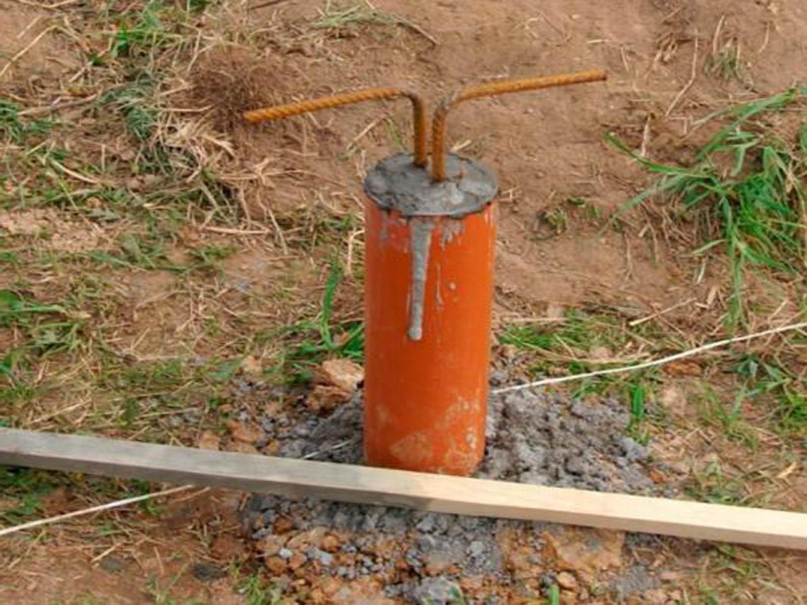 Делаем простой фундамент из пвх трубы под веранду
