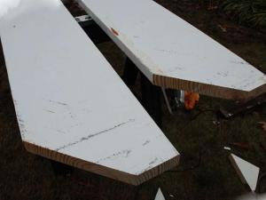 Так выглядят обрезанные доски для деревянной преголы