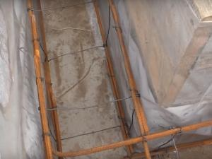 Армопояс ленточного фундамента под веранду