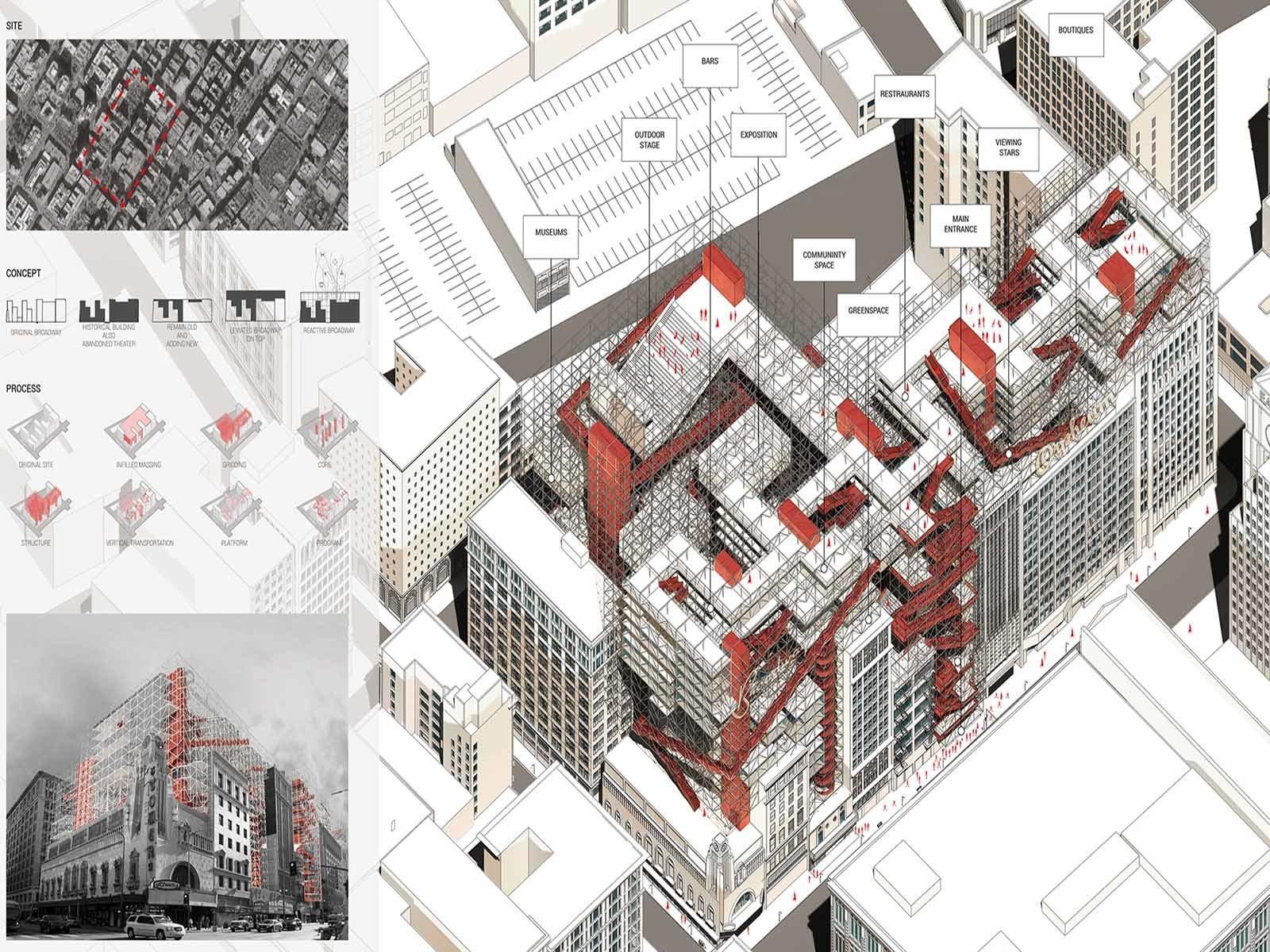 """Проект """"Левитирующий Бродвей"""" был создан для восстановления архитектурного центра города"""