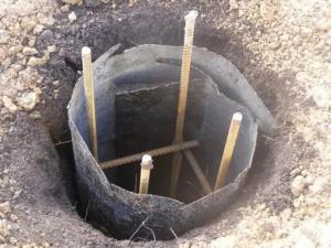 Делаем каркас свайного фундамента для веранды
