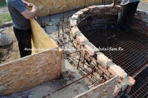 Армирование фундамента лестницы