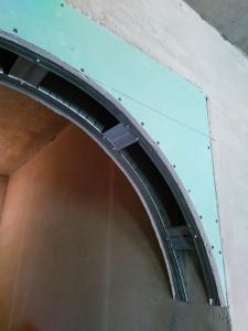 Работаем с гипсокартоном и делаем арку из гипсокартона.