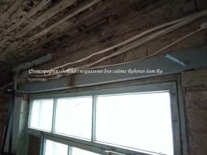 Ремонт старого потолка ОСБ плитами под натяжной потолок