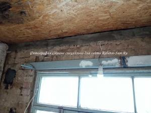 Подшиваем потолок ОСБ плитами под натяжной потолок