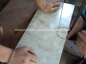 Методика резки кафеля алмазной струной