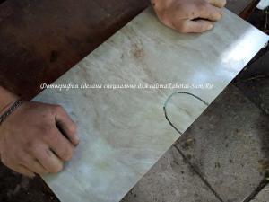 Режем кафель для ванной алмазной струной