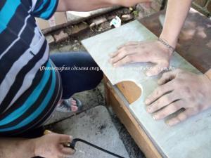 Разрезаем кафель алмазной струной