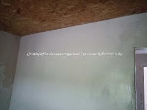 Заделываем швы и саморез на стене из гипсокартона