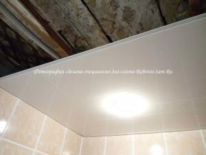 Монтаж освещения в ванной комнате