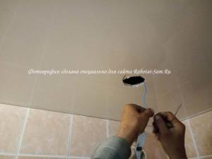 Подключаем плафон освещения в ванной