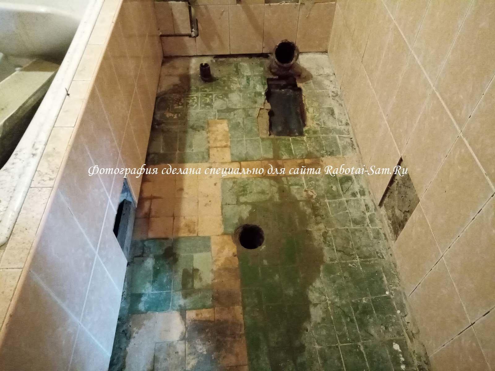 Реставрация пола в ванной своими руками