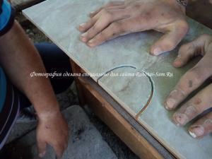 Режем кафель алмазной струной своими руками