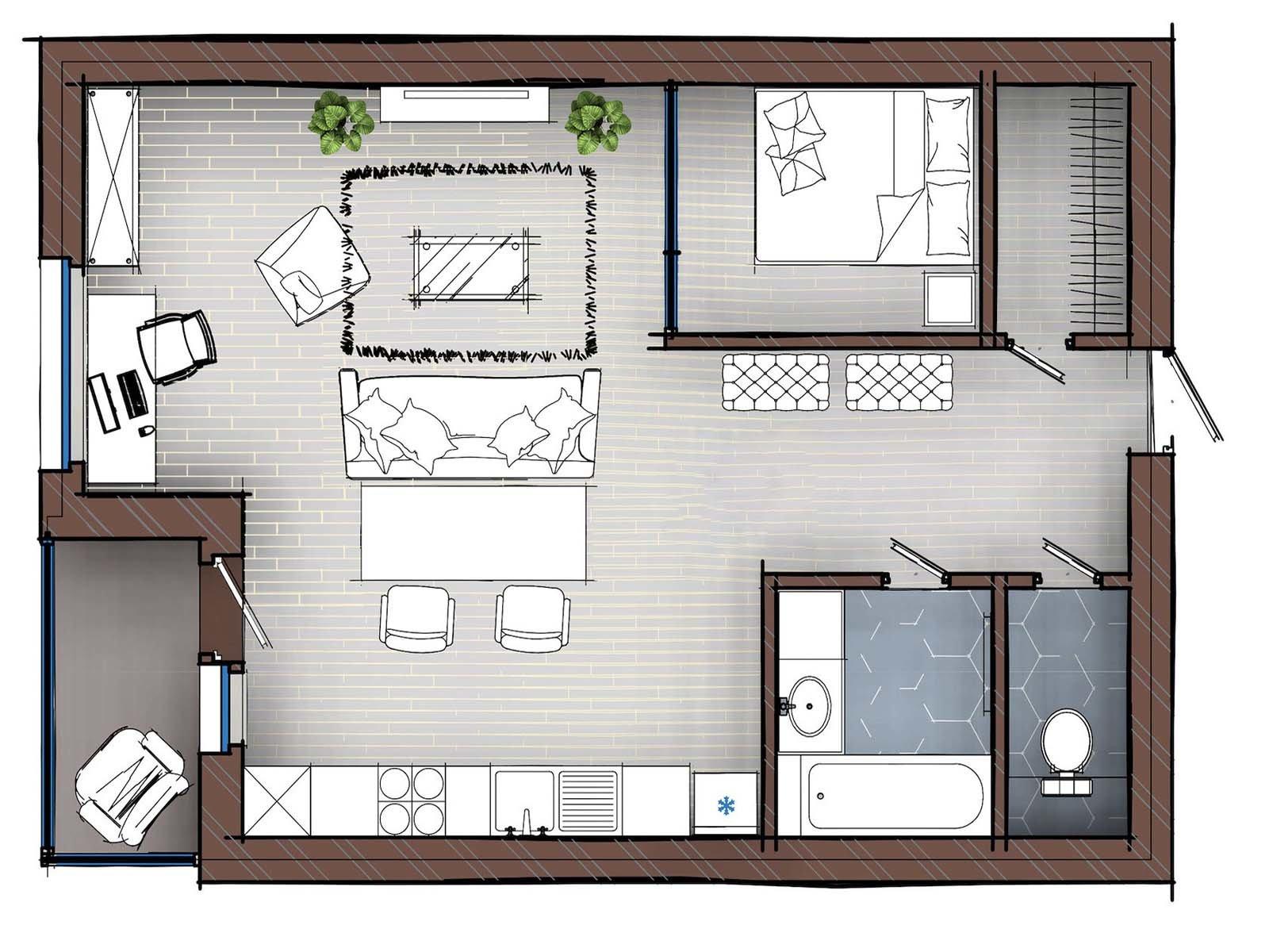 Сделайте эргономичную планировку своей квартиры
