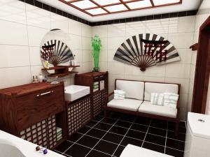 Японская культура в ванной комнате