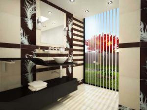 Ванная комната в японском стиле в квартире