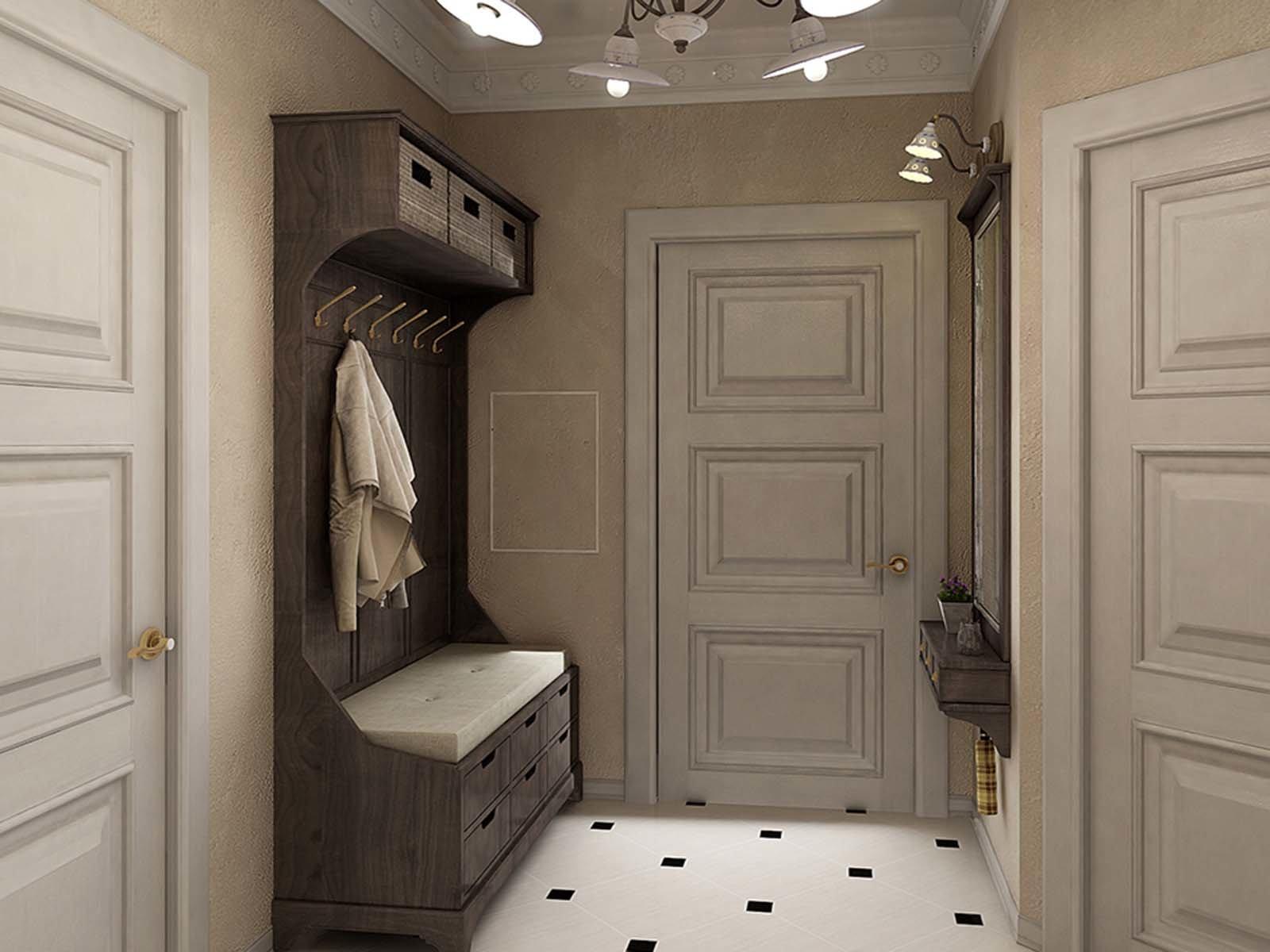 Красивая маленькая прихожая комната в доме