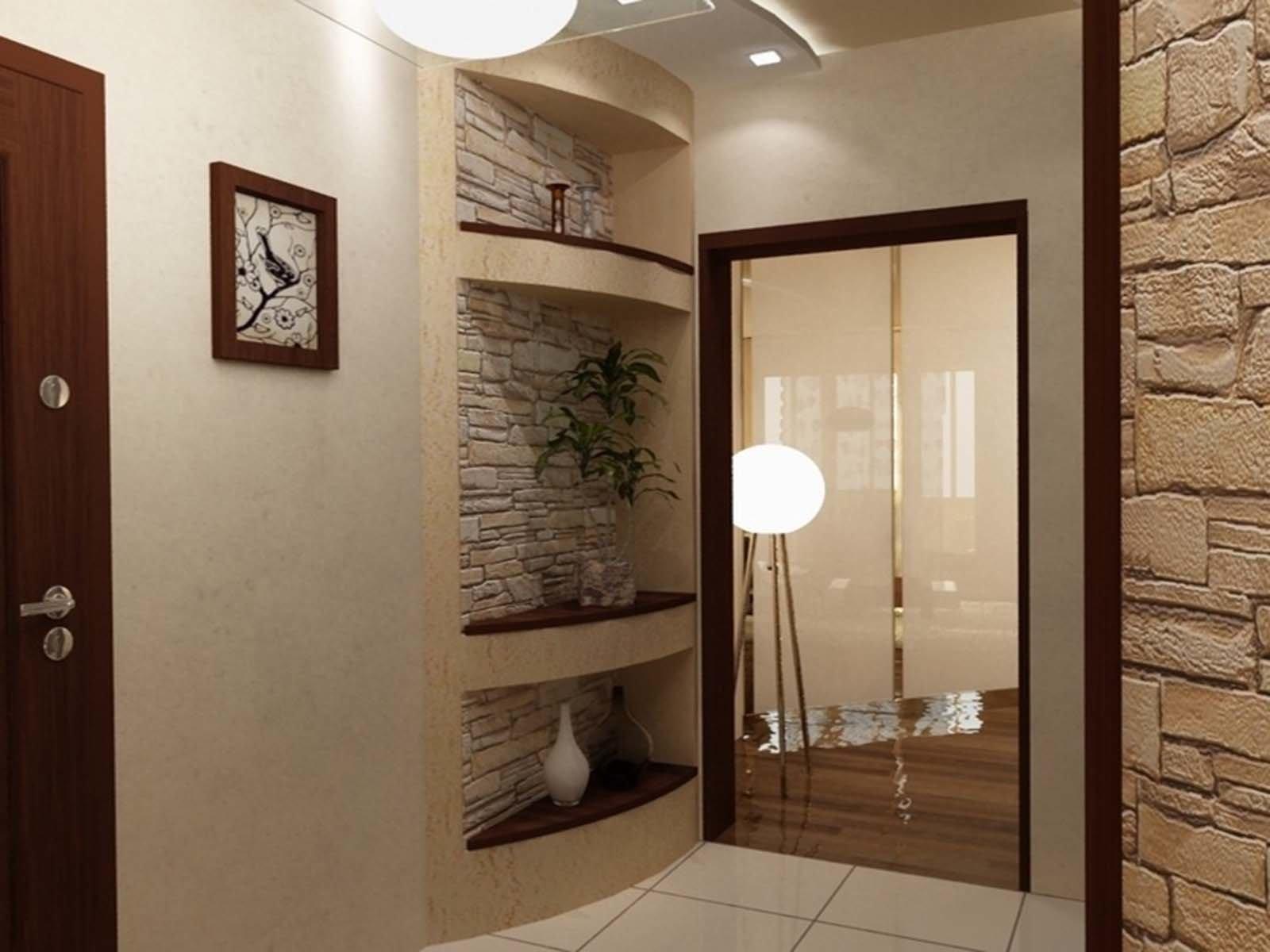 Установка зеркала в большой прихожей комнате