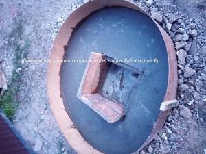 Готовый смотровой колодезь для воды во дворе