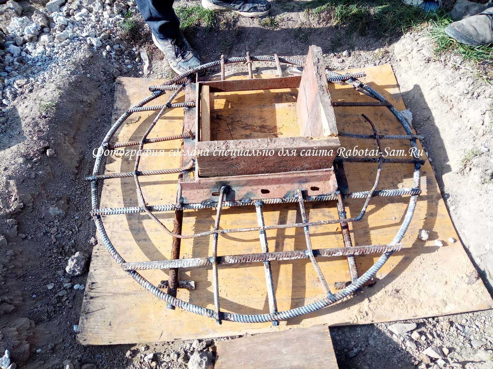Готовый каркас смотрового колодезя для воды