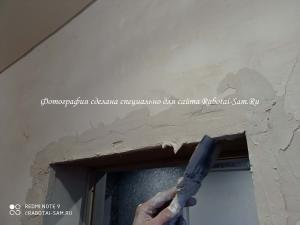Выравниваем дверные откосы шпатлевкой