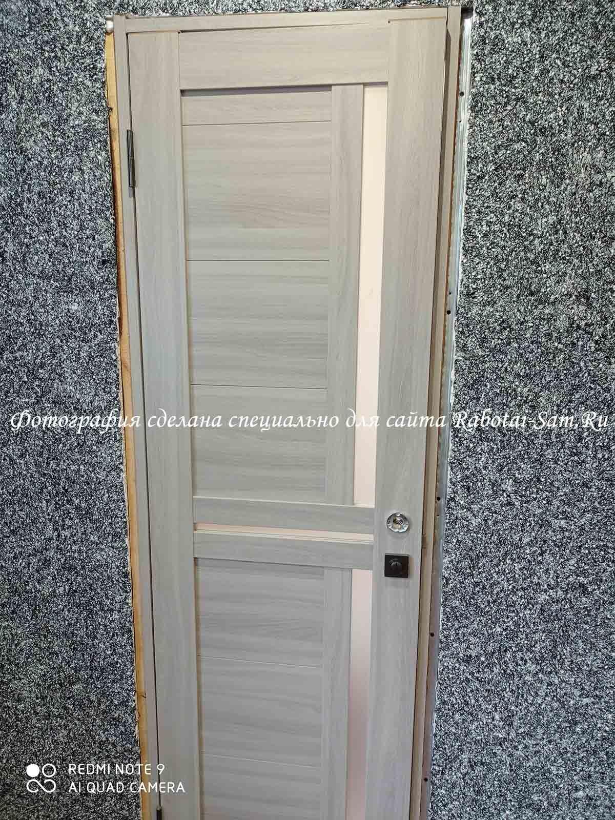 Установка нового полотна двери в старую коробку