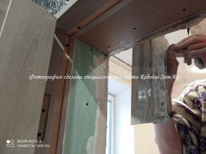 Выравниваем углы дверных откосов своими руками