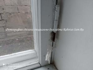 Извлечение штифта с петли деревянного окна