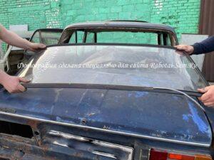 Демонтаж стекла с кузова автомобиля-мангала
