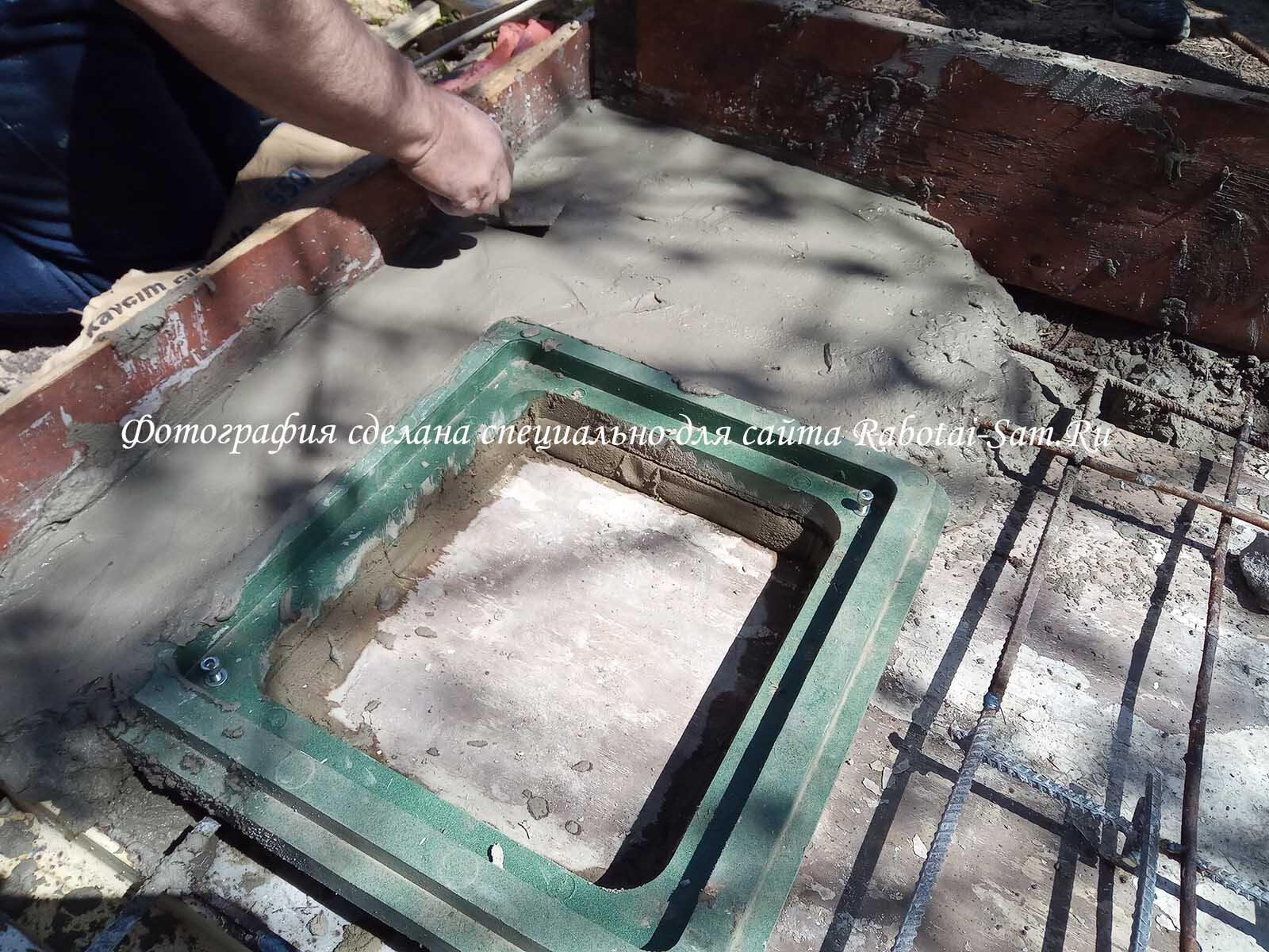 Изготовление надежного армопояса для стяжки сливной ямы