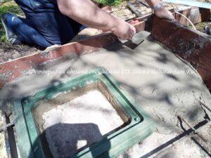 Изготовление простой бетонной стяжки для сливной ямы