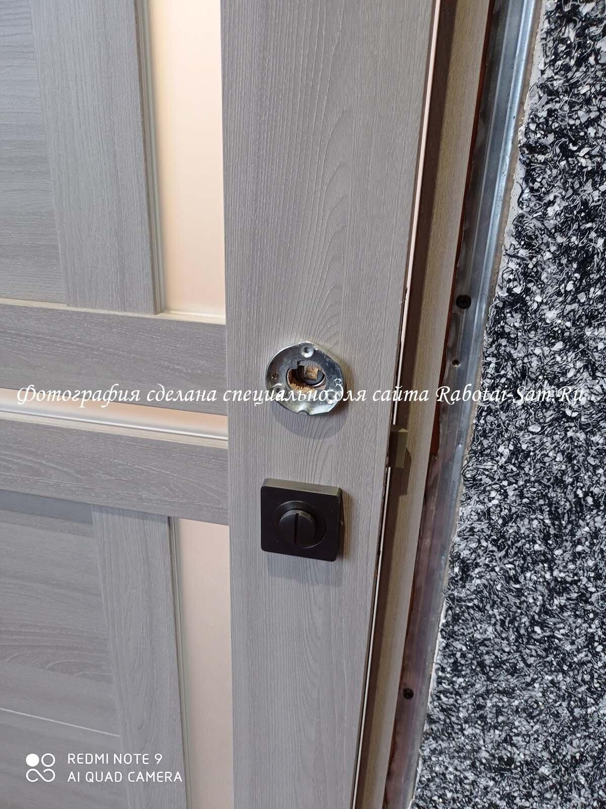 Установка двери которая не подходит по размеру в старый проём