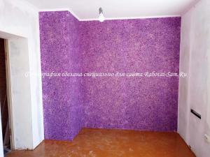 Одна стена с жидкими обоями в детской комнате