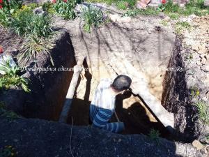 Углубление сливной ямы на участке своими руками