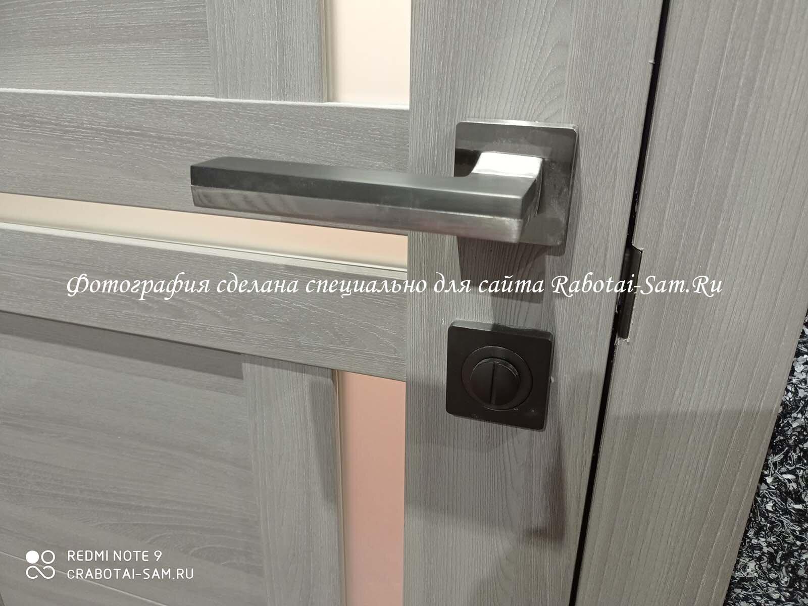 Установка защелки двери на наличник межкомнатной двери