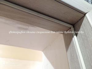 Стыковка наличника с дверной коробкой