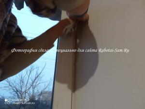 Делаем красиыве откосы на окне в спальне
