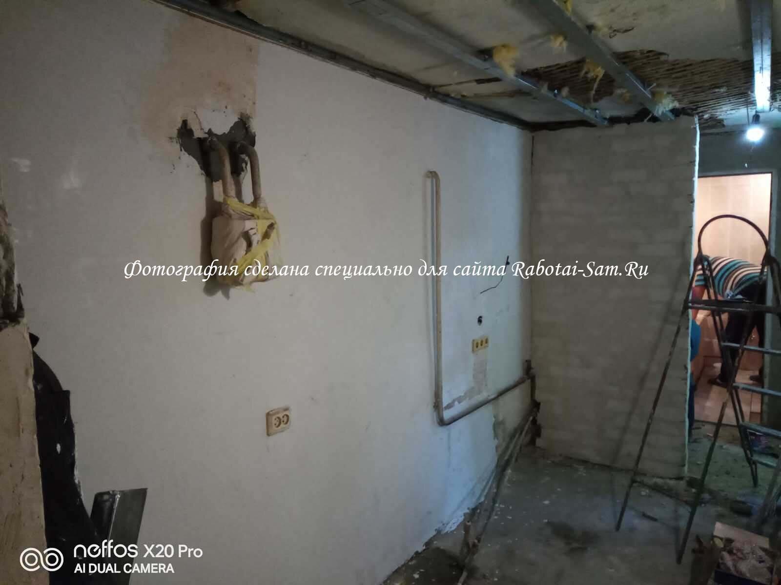 Выравнивание стен в кухне своими руками