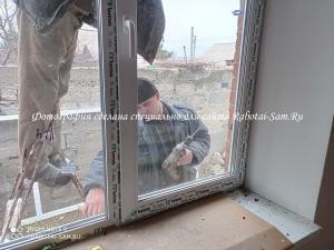 Монтаж пластикового окна в частном доме своими руками зимой